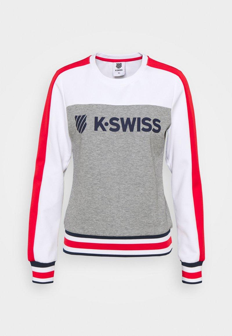 K-SWISS - HERITAGE SPORT WARM-UP - Mikina -  melange/white