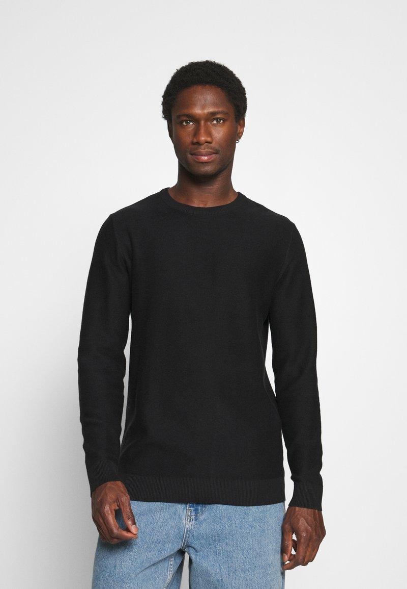 Selected Homme - SLHBRENT CREW NECK - Jumper - black