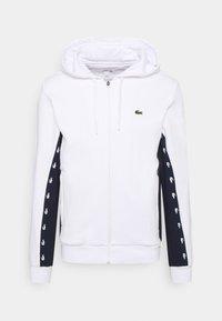 veste en sweat zippée - blanc/bleu marine