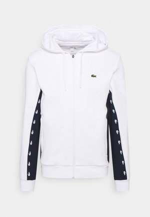 Zip-up hoodie - blanc/bleu marine