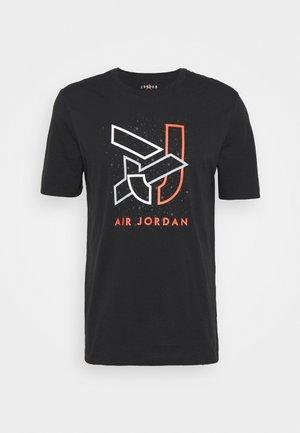 BRAND CREW - Print T-shirt - black