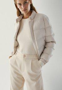 Massimo Dutti - Down jacket - beige - 2