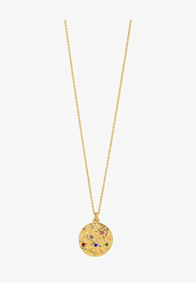 AMBER ROUND RAINBOW - Ketting - gold-coloured