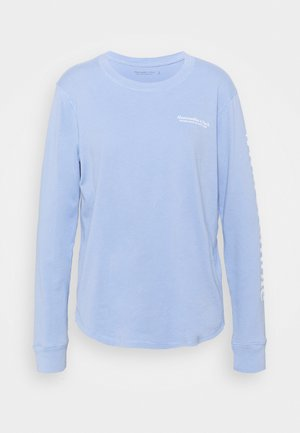 LONGSLEEVE PRINT LOGO TEE - Long sleeved top - blue