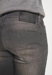 G-Star - 3301 STRAIGHT TAPERED - Straight leg jeans - slander grey  superstretch - 4