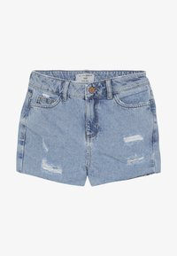 New Look 915 Generation - ANNIE RIPPED MOM SHORT  - Jeans Short / cowboy shorts - blue pattern - 4