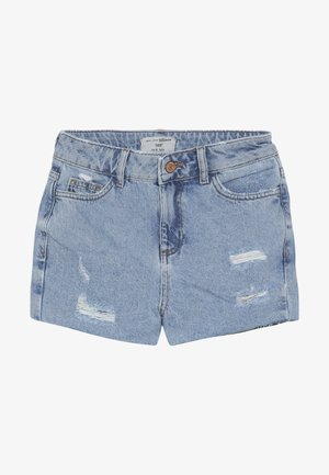 ANNIE RIPPED MOM SHORT  - Szorty jeansowe - blue pattern