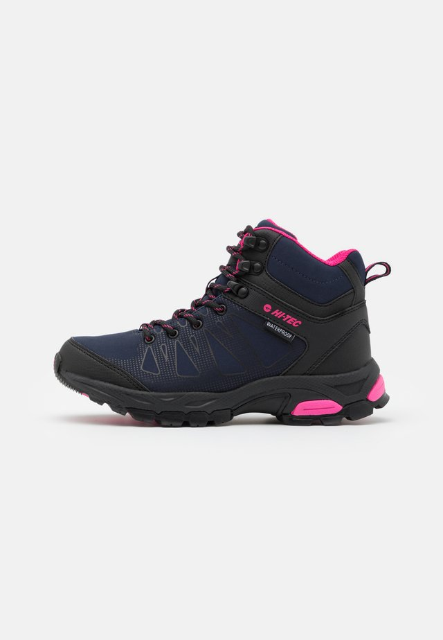 RAVEN MID WP - Hiking shoes - navy/magenta