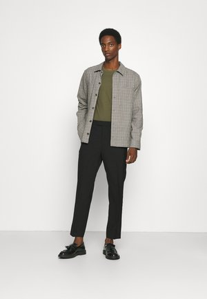 3 PACK - Langarmshirt - black/dark grey/olive