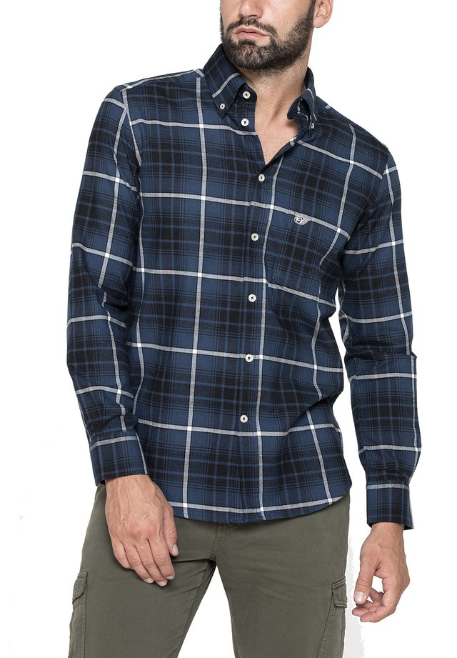 Camicia - blu-scuro/blu elettrico