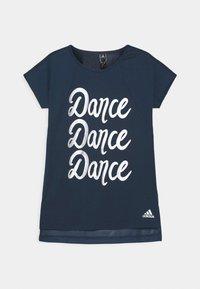 adidas Performance - DANCE - T-Shirt print - crew navy/silver - 0