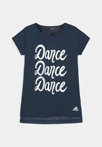 DANCE - Print T-shirt - crew navy/silver