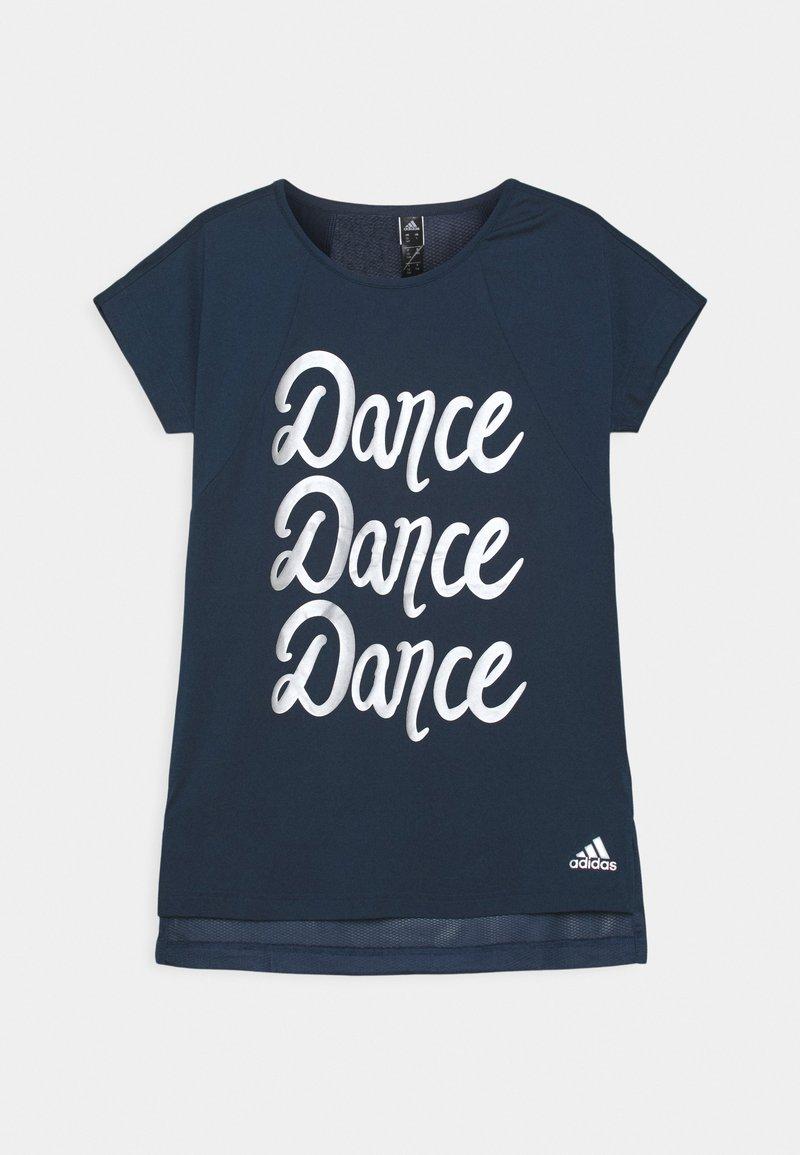 adidas Performance - DANCE - T-Shirt print - crew navy/silver