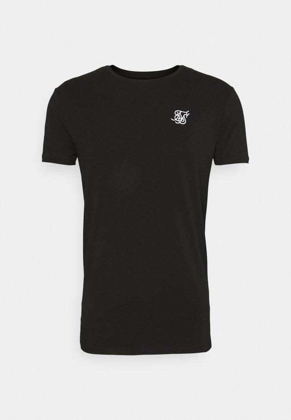 SIKSILK SHORT SLEEVE GYM - T-shirt basic - jet black/czarny Odzież Męska MBDC
