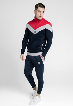 RETRO QUARTER ZIP OVERHEAD TRACK  - Sweatshirt - navy/red/white