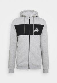 CHAPMAN ZIPTHOUGH HOODIE - Zip-up sweatshirt - grey marl/black/white