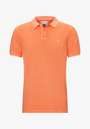 SHORT SLEEVE BUTTON PLACKET - Polo shirt - orange