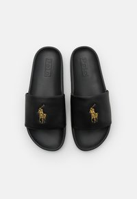 Polo Ralph Lauren - CAYSON  - Pantofle - black/gold - 3