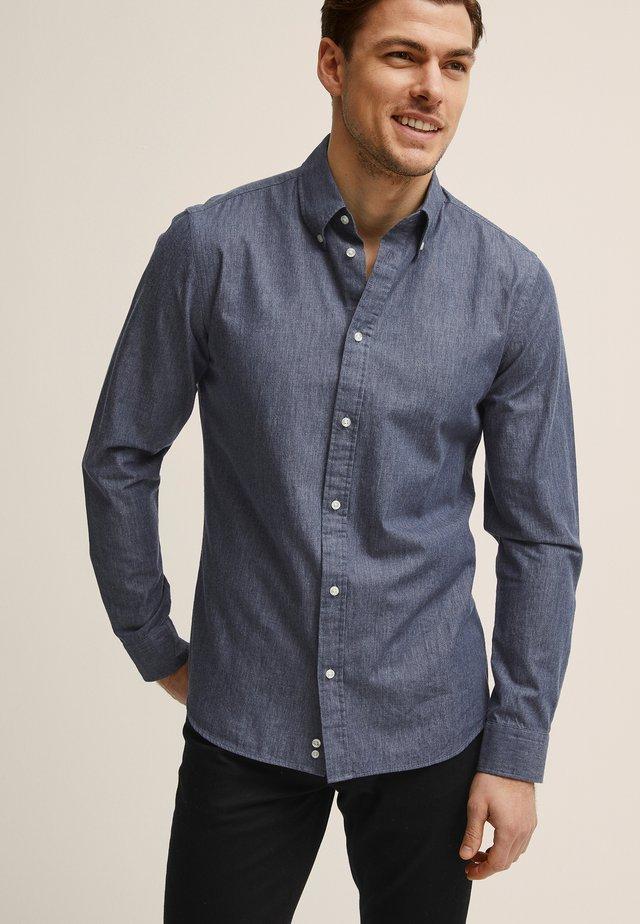 MILTON TWILL - Overhemd - dark blue mel