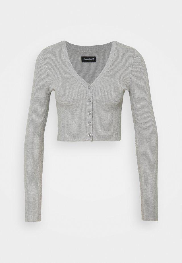 Kardigan - mottled light grey