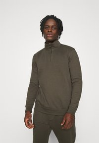 Burton Menswear London - REGULAR FIT ZIP AND JOGGER SET - Sweater - khaki - 2