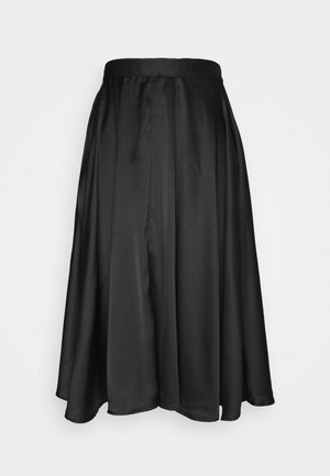 VMCHRISTAS CALF SKIRT - A-Linien-Rock - black