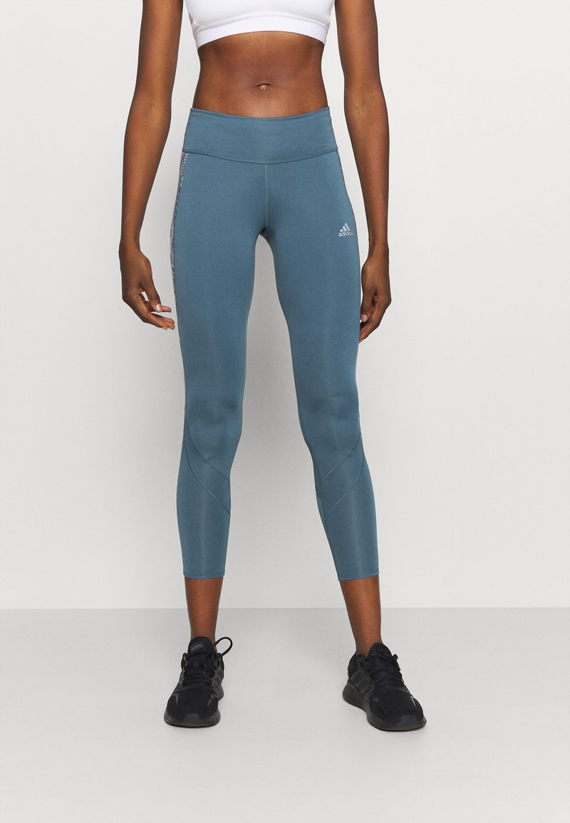 adidas Performance - OWN THE RUN - Tights - legblu/hazcor