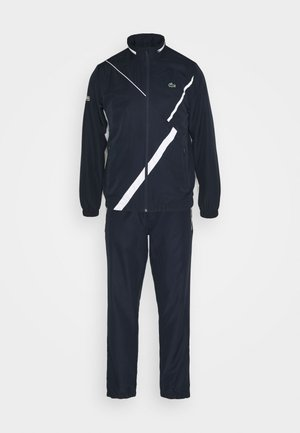 SET TENNIS TRACKSUIT HOODED - Chándal - navy blue/white
