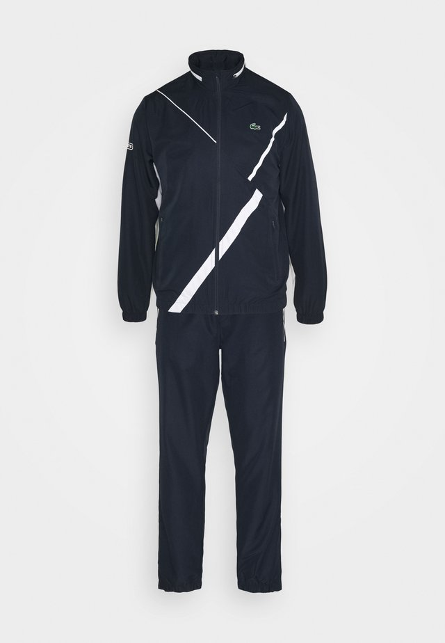 SET TENNIS TRACKSUIT HOODED - Trainingsanzug - navy blue/white