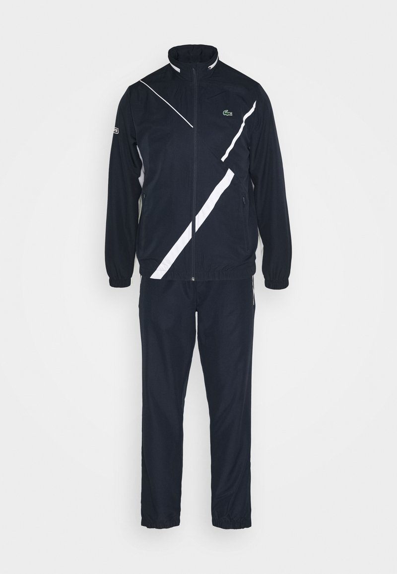 Lacoste Sport - SET TENNIS TRACKSUIT HOODED - Survêtement - navy blue/white