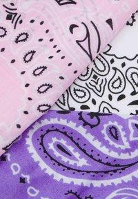 Urban Classics - BANDANA 3 PACK UNISEX - Foulard - violet/white/rose - 2