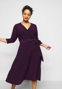 Lauren Ralph Lauren Woman - CARLYNA DAY DRESS - Jersey dress - raisin - 3