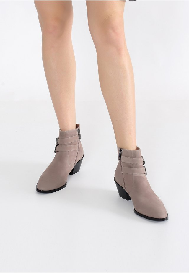 Wedge Ankle Boots - beige