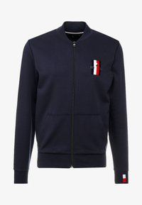 Tommy Hilfiger - FLEX LUXURY ARTWORK BASEBALL ZIP - Zip-up hoodie - blue - 4