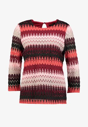 Long sleeved top - granate red