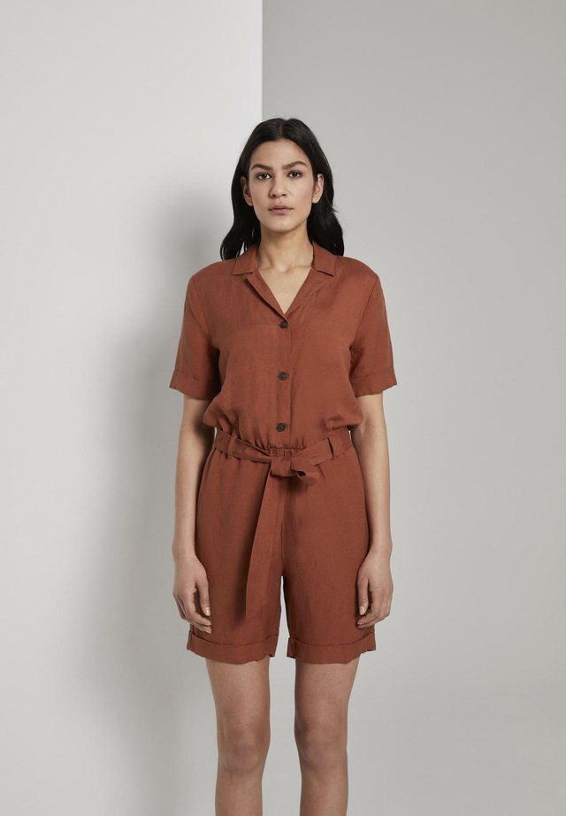 UTILITY-MIT REVERS-KRAGEN - Jumpsuit - goji orange