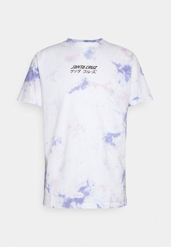 EXCLUSIVE OFF HANDO TIE DYE UNISEX  - Print T-shirt - white/lavender