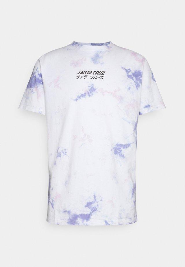 EXCLUSIVE OFF HANDO TIE DYE UNISEX  - T-shirts med print - white/lavender