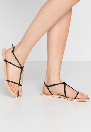THIN MULTI STRAP - T-bar sandals - black