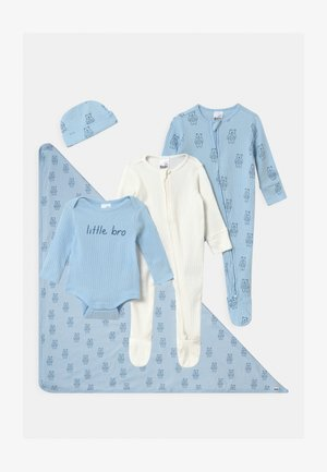 BUNDLE SET UNISEX - Čepice - white/blue