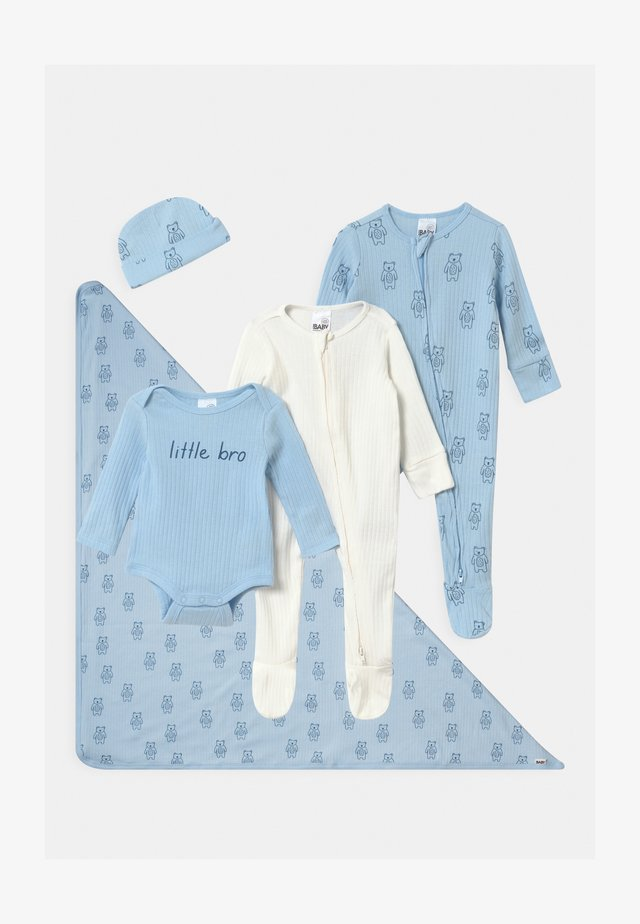 BUNDLE SET UNISEX - Mössa - white/blue