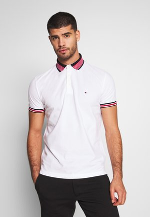 CONTRAST TIPPED COLLAR - Polo - white