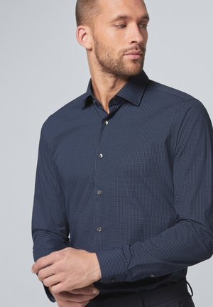 SANTOS - Formal shirt - navy gemustert