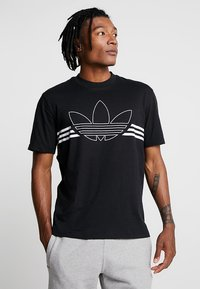 adidas Originals - OUTLIN TEE - Print T-shirt - black - 0