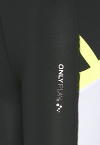ONLY PLAY Tall - ONPALIX TRAINING TIGHTS - Leggings - black/white/yellow - 2