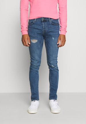 ONSLOOM DAMAGE - Slim fit jeans - blue denim