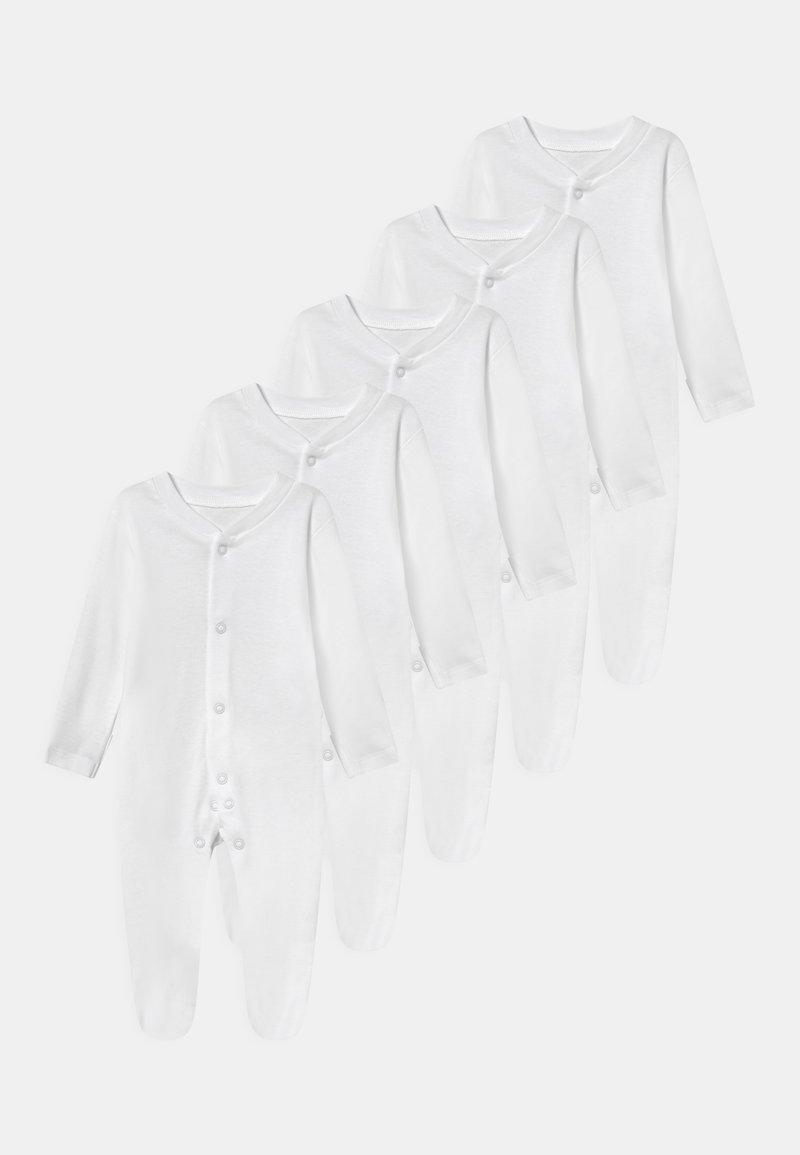 Marks & Spencer London - BABY 5 PACK UNISEX - Sleep suit - white