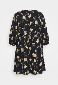 Pieces Curve - PCGLYDA WRAP DRESS CURVE - Day dress - black - 1