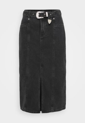 ONLVERONA LIFE LONG SKIRT - Falda de tubo - dark grey denim