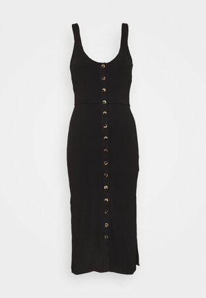 BRA CUP MIDI DRESS - Kotelomekko - black